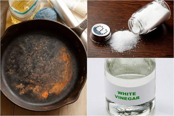 Sử dụng axit citric để tẩy rỉ sét.