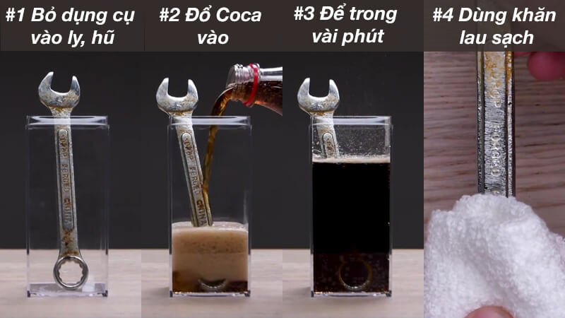 cách tẩy rỉ sét bằng Coca cola đơn giản mà hiệu quả