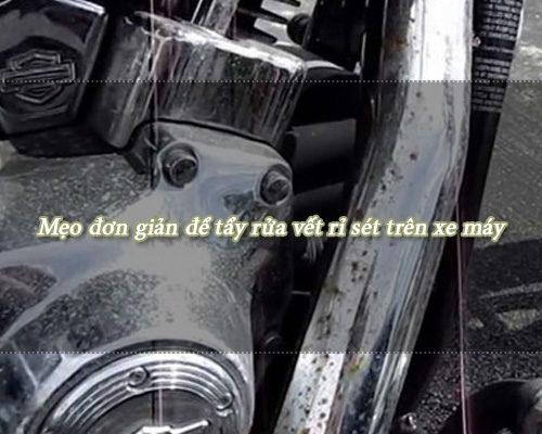 Dung dịch tẩy rỉ sét xe máy làm sạch nhanh trong một nốt nhạc