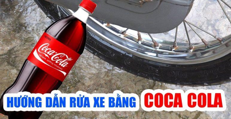 tẩy rỉ sét xe máy làm sạch nhanh bằng coca
